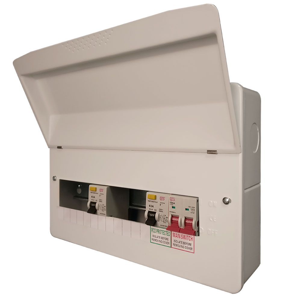 fusebox dual rcd flex 10 usable ways consumer unit - f1010d - sparky's mate  sparky's mate